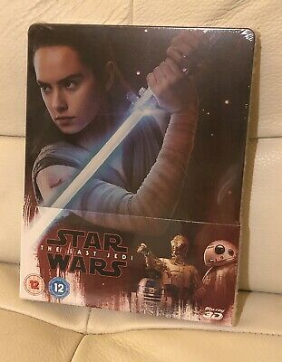 Star Wars The Last Jedi Ltd Edition 3D Blu Ray Steelbook - Brand New & Sealed