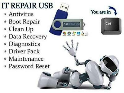 Pc Computer Laptop Recovery Repair Fix For Windows 10 8 7 Vista Xp On Usb Stick
