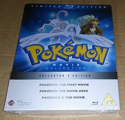 Pokemon Movie 1-3 Collection (Blu-ray) Collector's Edition Steelbook