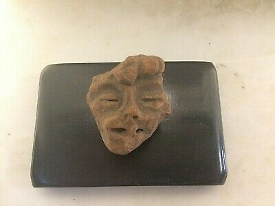 Pre-Columbian Mayan Ancient Artifact Head  Piece Fragment