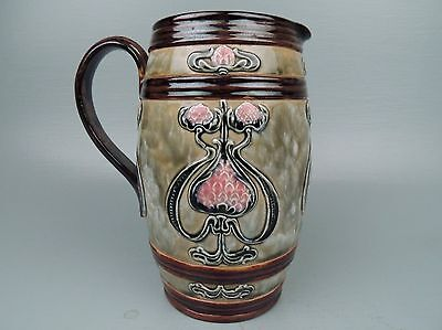 Antique English Royal Doulton Lambeth Stoneware Pitcher - RB - Rosina Brown - PC