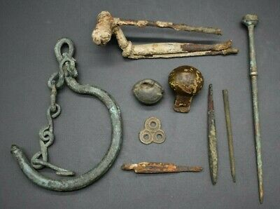 Mixed lot of British metal detector finds