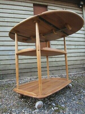 Blonde Ercol Extending Drop-Leaf Tea Trolley..Hand Stripped..Osmo Polyx Oil