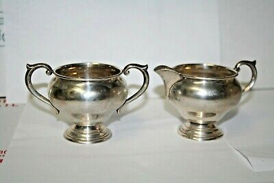 Antique Newport Sterling Silver Cream Pitcher #16321 and Sugar Bowl #16321 Set