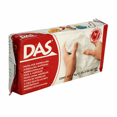 1 Pack - DAS 387500 Air Drying Modelling Clay 1kg White