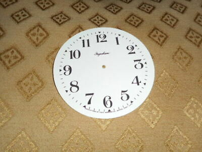 For American Clocks - Ingraham Paper Clock Dial- 86mm M/T - GLOSS WHITE- Parts