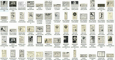 600+ antique BICYCLING ADS on CD - over 200 MB of hi res jpg images