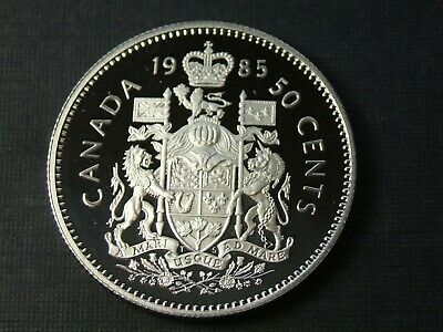 1985 50 fifty Cents Canada Proof - Heavy Cameo