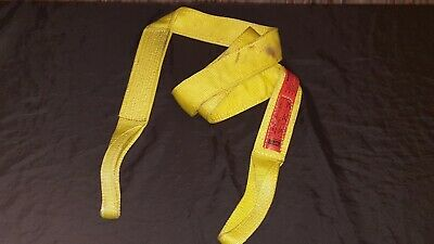 8 FT Nylon Lifting Sling Tow Strap 3 Inch 2 Ply 8,600 lbs Vertical Lift EE2-903