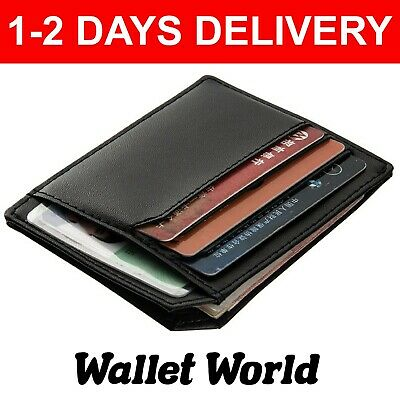 Super Flat Quality Baellery Card Holder Wallet Purse Notes Credit Card Black Bro