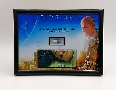 Elysium Matt Damon Miporol Medication Prop Display Screen Used Coa