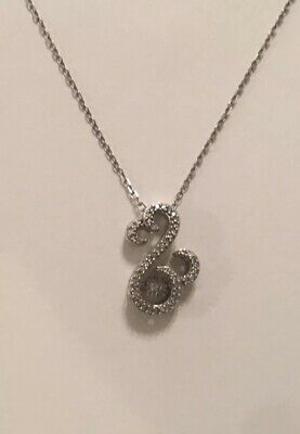 b3e01272b Jane Seymour Open Hearts Rhythm Diamond 10K White Gold Necklace Kay Jewelers