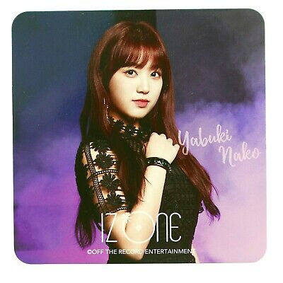 "IZ*ONE IZONE Japan Nako Yabuki ""Shibuya 109 POP UP -Buenos Aires-"" Coaster"