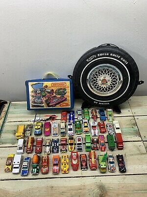 Vintage Lot 60s 70s Hot Wheels Matchbox 2 Case 48 Cars Lesney Great Cond Nice!!