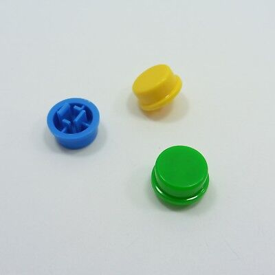 Round Caps for 12mm x 12mm x 7.3mm Tact Button Different Colors Tactile Switches