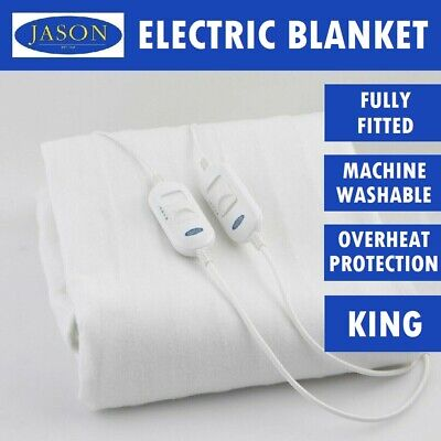 Jason Bedding Machine Washable Electric Blanket Heated Warm Fully Fitted KING