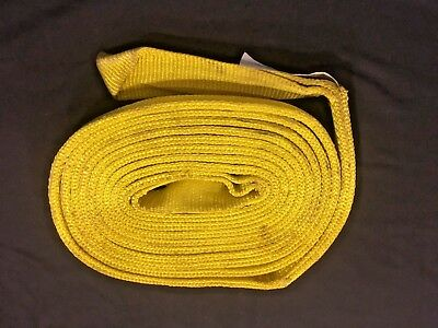 """New Consolidated Rigging 20Ft Web Sling Tow/Lift Strap 12,800 Lbs 2"""" Wide"""