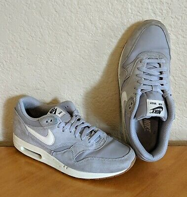 Mens Nike Air Max 1 One Essential Matte Silver Running Shoes 537383-015 Size 10