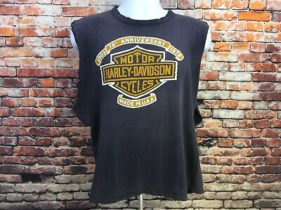 Vtg Harley Davidson 1978 Freedom Massillon Ohio Single Stitch Cut Off  (113)
