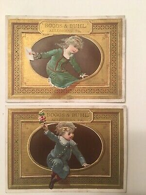 Rare Boggs And Buhl Depatment Store Trade Cards