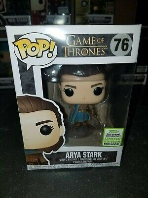 Funko Pop! Arya Stark #76 Game of Thrones ECCC Spring 2019 BoxLunch in Protector