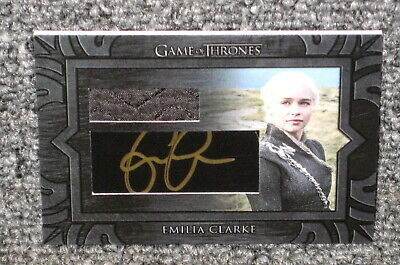 Emilia Clarke Signed Game Of Thrones Inflexions Auto W/ Daenerys Overcoat Relic