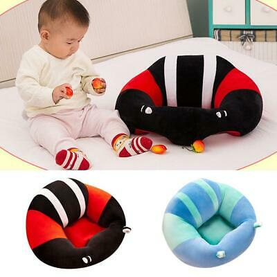 Kids Baby Support Seat Sit Up Soft Chair Cushion Sofa Plush Pillow Toy Bean New