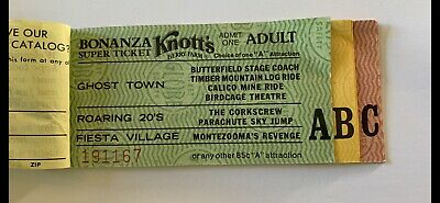 Vintage 1970s KNOTTS BERRY FARM Theme Park BONANZA SUPER TICKET BOOK COMPLETE!