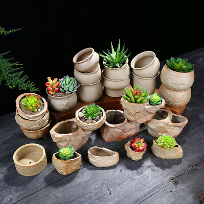 Ceramic Flower Pots Plant Succulent Planter MIni Bonsai Holder Home Garden Decor