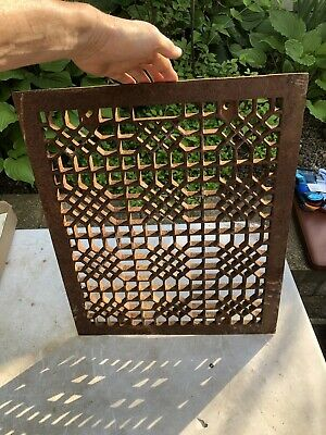vtg floor grate Heat Register Victorian Industrial Cast Home Wall Antique