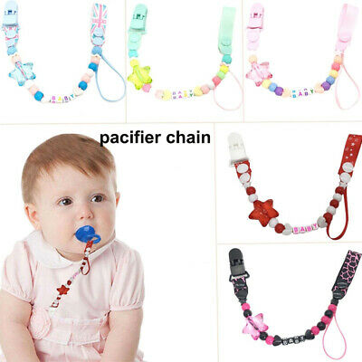 Baby Teething Dummy Infant Soother Clip Chew Toy Pacifier Chain Nipple Holder