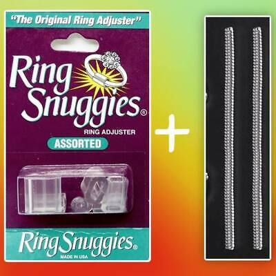 Ring Size Adjuster Reducer Snuggies + 2 Spiral Ring Band Resizers.Loose Ring Fix