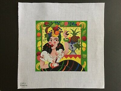 "Melissa Shirley Designs Hand-painted Needlepoint Canvas ""Carmen"" Miranda"