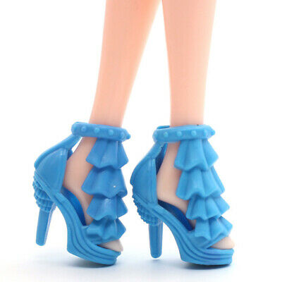 80x 40 Pairs Different High Heel Shoes Boots For Doll Dresses Clothes Gifts Hot