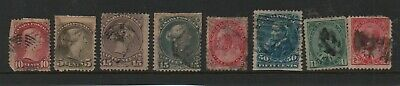 Canada Early Stamps x 7. 1868 to 1903 - CV $350