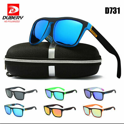 DUBERY Men Polarized Sport Sunglasses Outdoor Driving Fishing Square Glasses