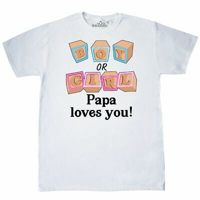 Inktastic Boy Or GIrl, Papa Loves You T-Shirt Gender Reveal Dad Father Grandpa