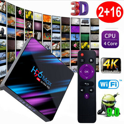 H96 Max Smart TV Android 9.0 Box RK3318 Quad Core 64 bits UHD 4K VP9 H.265 F4A0