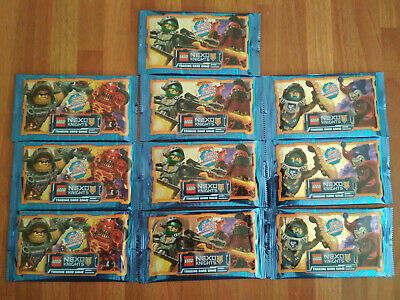 10 Booster = 50 Cartes LEGO NEXO KNIGHTS Trading Card Game, OVP.
