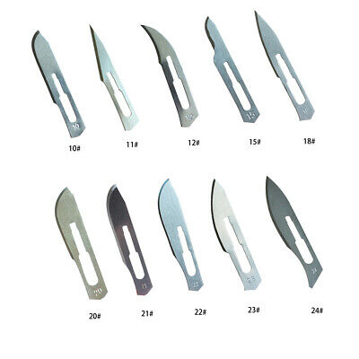 10pcs Various Sterile Carbon Steel Surgical Blade Veterinary Scalpel Lab Anatomy