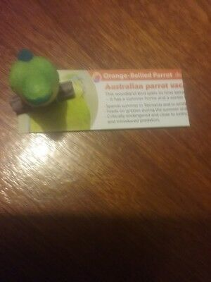 Orange-Bellied Parrot Super Series Yowie With Paper