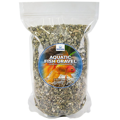 Sakana Natural Round Aquatic Fish Gravel - Decorative Aquarium Tank Substrate