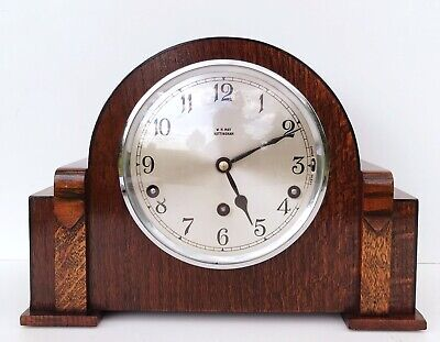 Garrard Oak & Zabrano Westminster Chiming Mantle Clock Superb