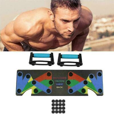 9 in 1 Push Up Rack Board System Fitness Workout  Train Gym Exercise Body SH