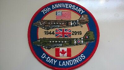 D-DAY 75th Anniversary Embroidered  Commemorative Patch