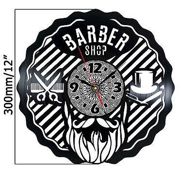 Barber Shop Home Decor Vinyl Wall Clock Hair Special gift ideas Hairdresser art