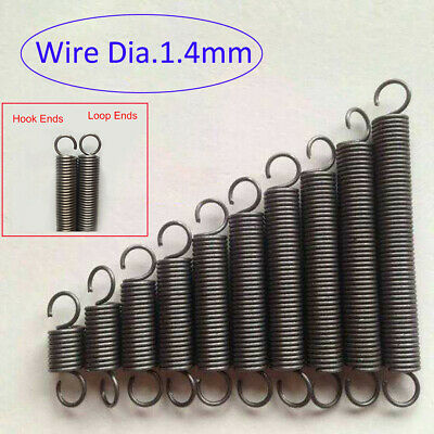 Extension Tension Spring Wire Dia.3mm OD 21//22//23//24//25mm Hook//Loop Ends Spring