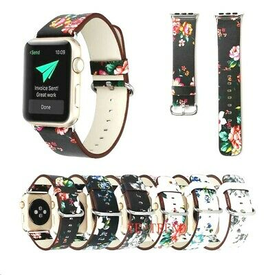 Wrist Band Strap For iWatch Apple Watch Series 3 2 1 Genuine Leather Bracelet