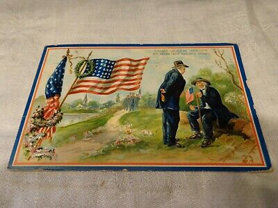 Antique Decoration Day Patriotic Embossed Postcard by Tuck & Sons, Early 1900's