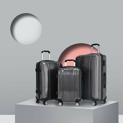 "GLOBALWAY 3 pcs 20"" 24"" 28"" ABS+PC Luggage Travel Set"